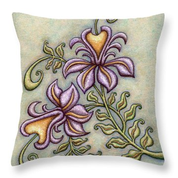 Tapestry Flower 8 Throw Pillow