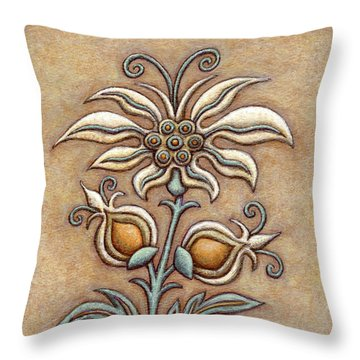 Tapestry Flower 9 Throw Pillow