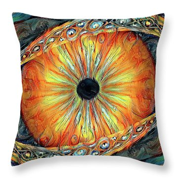 Throw Pillow featuring the digital art Taste And See by Missy Gainer