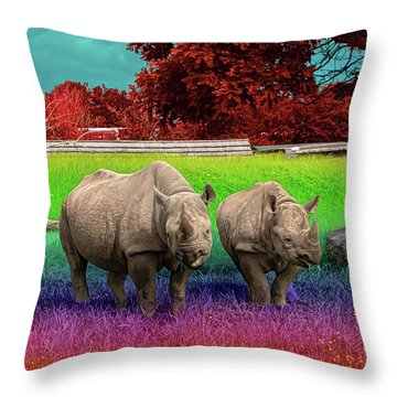 Taste The Rhin-bow Throw Pillow