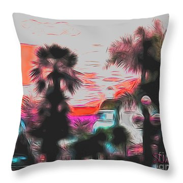 Tauranga New Zealand Throw Pillow