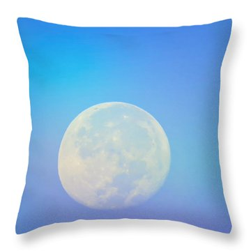 Taurus Almost Full Moon Blend Throw Pillow