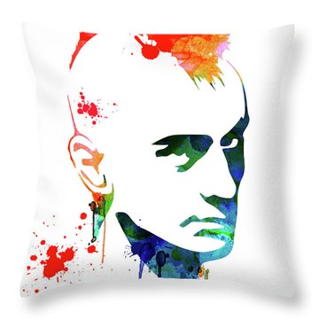 Taxi Driver Watercolor Throw Pillow