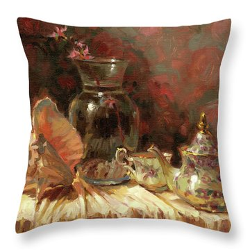 Tea By The Sea Throw Pillow