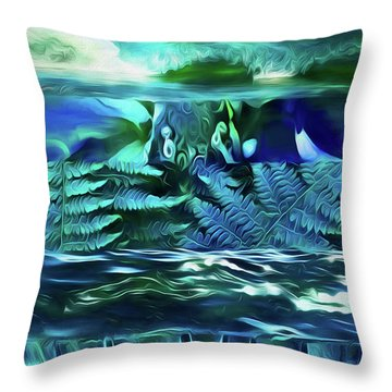Teal Dreaming  Throw Pillow