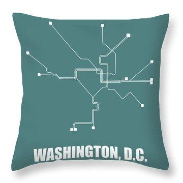 Dc Subway Map Pillow.Washington D C Throw Pillows Fine Art America