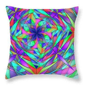 Techno Fantasy Remix Three Throw Pillow