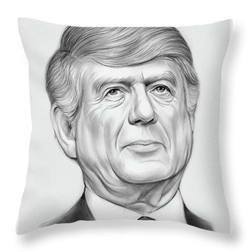 Ted Koppel Throw Pillow
