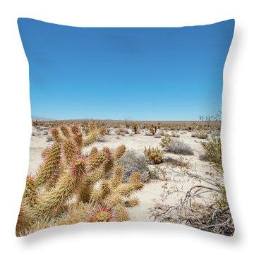Teddy Bear Cactus Throw Pillow