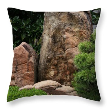 Throw Pillow featuring the photograph Teeny Weeny And Biggy Wiggy - Rock Formations by Debi Dalio