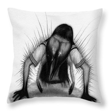 Teke Teke - Artwork Throw Pillow