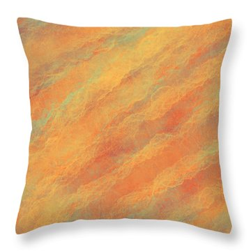 Tempered Lava Throw Pillow