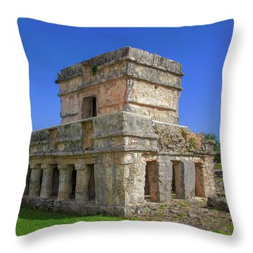 Temple Of The Frescoes Throw Pillow