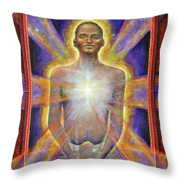 Temple Of The Soul Throw Pillow
