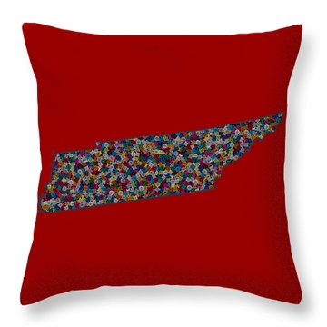 Tennessee Map - 1 Throw Pillow