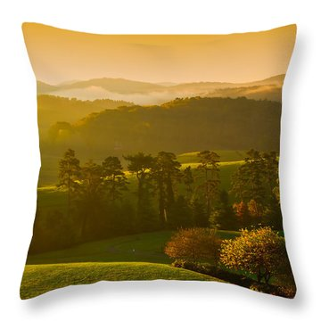 Smokey Mountain Sunrise Throw Pillow