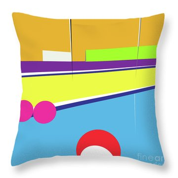 Tennis In Abstraction Throw Pillow