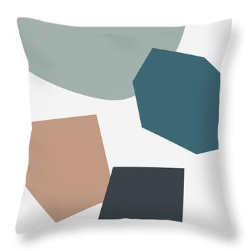 Terrazzo Abstract 1- Art By Linda Woods Throw Pillow
