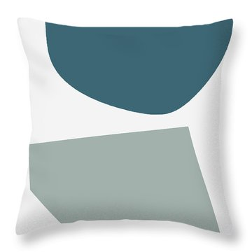 Terrazzo Abstract 2- Art By Linda Woods Throw Pillow