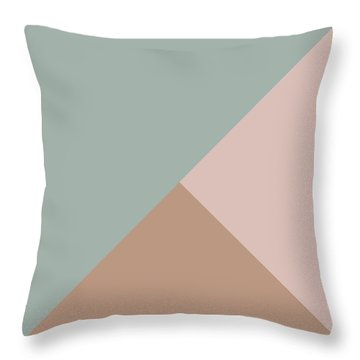 Terrazzo Corners 1- Art By Linda Woods Throw Pillow