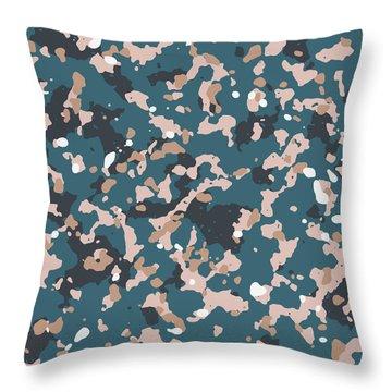 Terrazzo Splash 2- Art By Linda Woods Throw Pillow