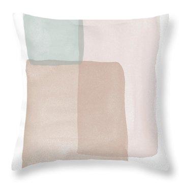 Terrazzo Watercolor Blocks 1- Art By Linda Woods Throw Pillow