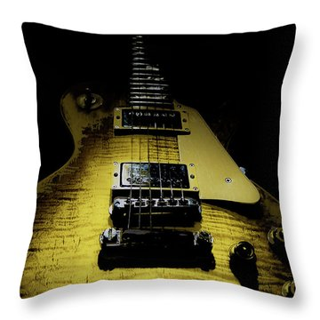 Honest Play Wear Tour Worn Relic Guitar Throw Pillow