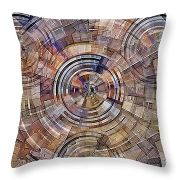 Test Pattern Throw Pillow