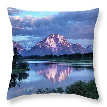 Teton Oxbow Morning 9087 Throw Pillow