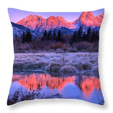 Teton Panorama T-shirt Throw Pillow