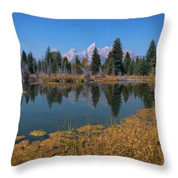 Tetons Majesty Throw Pillow
