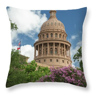 Texas Capital Building Throw Pillow