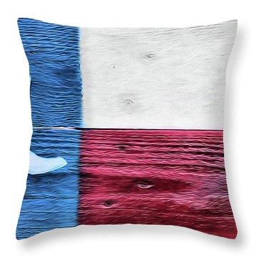 Texas Cowboy Boot Flag Throw Pillow