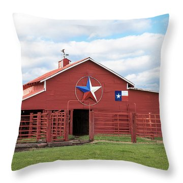 Texas Red Barn Throw Pillow