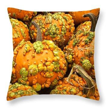 Textured Pumpkins  Throw Pillow