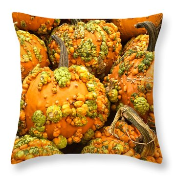 Textured Pumpkins  Throw Pillow