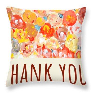 Thank You #2 Throw Pillow