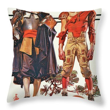 Thanksgiving 1628-1928 - Digital Remastered Edition Throw Pillow