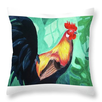 That Rooster Throw Pillow