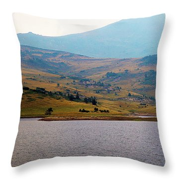 Throw Pillow featuring the photograph That Small Island by Milena Ilieva