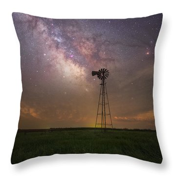 Throw Pillow featuring the photograph That's My Kind Of Night  by Aaron J Groen