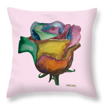The 1111 Global Rose Throw Pillow