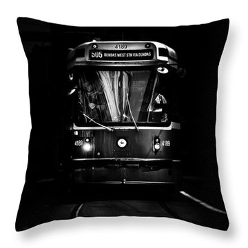 The 505 Dundas Streetcar Toronto Canada Throw Pillow