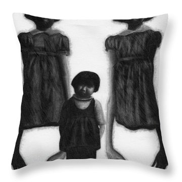 The Abberant Sisters - Artwork Throw Pillow