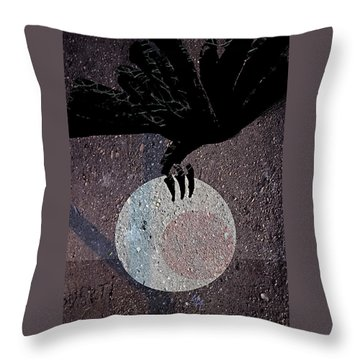 Throw Pillow featuring the digital art The Abduction Of The Moon by Attila Meszlenyi