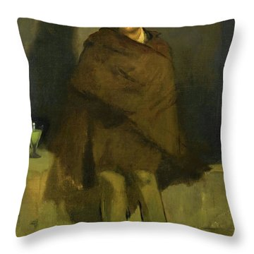 The Absinthe Drinker - Digital Remastered Edition Throw Pillow