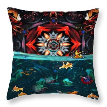 The Abstract Fish Tomb Throw Pillow
