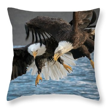 The Aerial Joust Throw Pillow