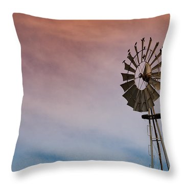 Throw Pillow featuring the photograph The Aermotor Chicago Co. By Mike-hope by Michael Hope