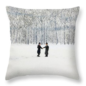 The Agreement Throw Pillow